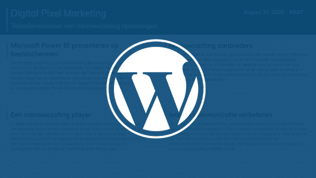 Wordpress feed 1